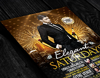 Elegant Birthday or New Year | Flyer + Facebook Cover