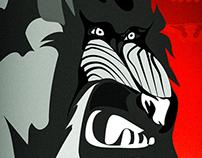 "#WacomWED wk.2 ""Baboon"" Adobe Illustrator CC"