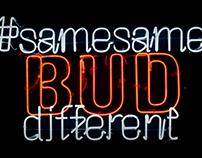 Budweiser #samesameBUDdifferent campaign