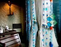 "'Moroccan Blues"" Bead Curtain- MOAB"