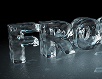 Frost - 3D Ice Typography