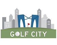 Golf City Logo Design