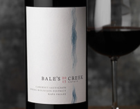 Bale's Creek Estate Wine Logo & Packaging Design