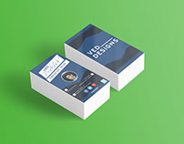 Flat Business Card PSD Template