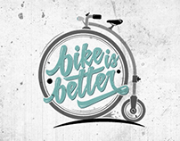BIKE IS BETTER. Personal Brand.