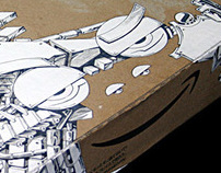 drawing on AMAZON's carton
