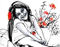 Portrait acrylic color 100cmx70cm