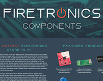 Firetronics Typeface & E-Commerce Website