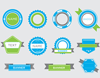 Badges and Banner Vectors