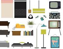 Room Furniture Vector