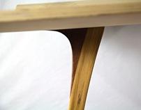 Bent Wood Book Stand