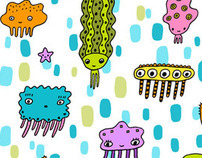 Squiddies fabric design
