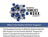 Families W.O.R.K. Program: Rack Card