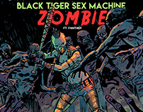 Black Tiger Sex Machine- ZOMBIE Cover Illustration