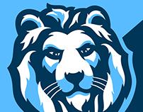 Snow Lion Mascot Logo