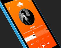 SoundCloud Player App Concept, iOS 7