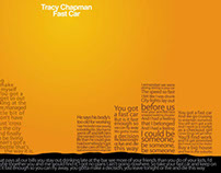 Fast Car by Tracy Chapman. Lyric Poster.