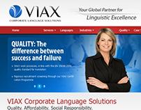 VIAX Corporate Language Solutions Website
