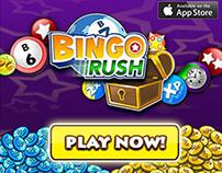 Bingo Rush and Blitz Advertising