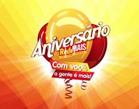 Campanha de Aniversário Supermercados RedeMAIS.