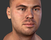 Dmitry. Real-time low poly Head