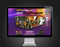 Colourful Music Web Design