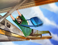 Bouflja Crazy Plane Fly