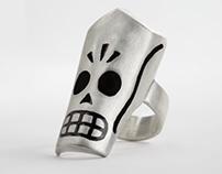 Grim Fandango Sterling Silver Ring