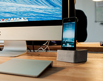 Massive Dock for iPhone 5 made from concrete