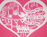 Heart Filled Dreams Papercut