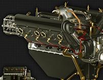 Griff Wason • Hispano-Suiza V8 aero engine