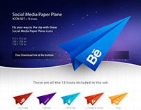 Free Social Media Paper Plane Icon Set