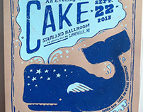 An Evening with CAKE - Whale Concert Poster