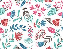 Flower pattern for International Women's Day