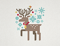 Greeting cards for winter holidays