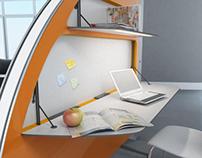 Рабочее место для open space: Slice table