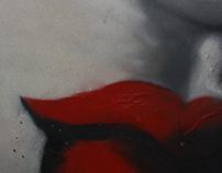 Spray on canvas