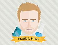 Jesse Pinkman   Breaking Bad {flat illustration}