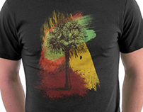 Grunge Palm Tree Summer T-Shirt Designs