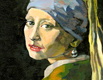 "Vermeer Master Copy ""Girl With the Pearl Earring"""