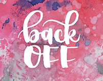 Back Off - Watercolor Brush Calligraphy Products