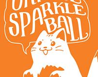 put a cat on it! // Orange Sparkle Ball