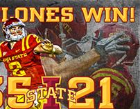 2012 ISU Football Win Graphics