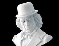 Bust Ludwig Van by Frank Kozik