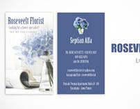 Roseveelt Florist Name Card