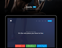 "Freebie: ""Cardio"" One Page Website Template"