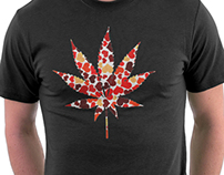 Love and Weed - Love and Pot - Weed Hearts Tshirt