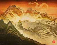 Golden Mountain // Desktopography 2013