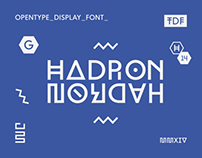 Hadron Display Typeface