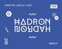 Hadron Display Typeface